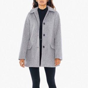 Audrey Gray Wool Coat   American Apparel